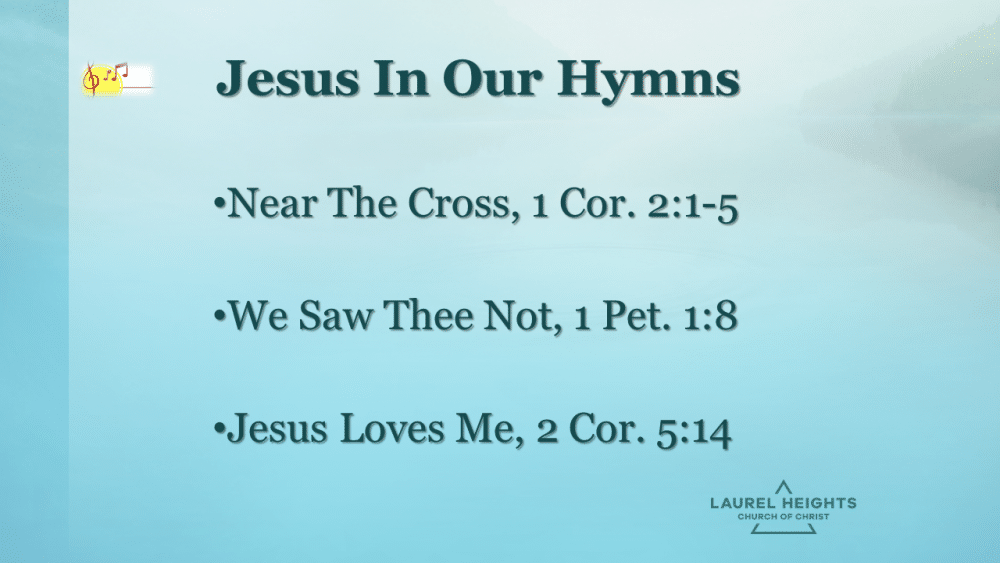 Jesus in our Hymns