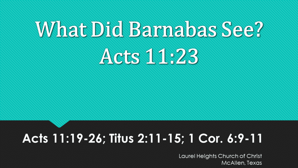 What did Barnabas See?
