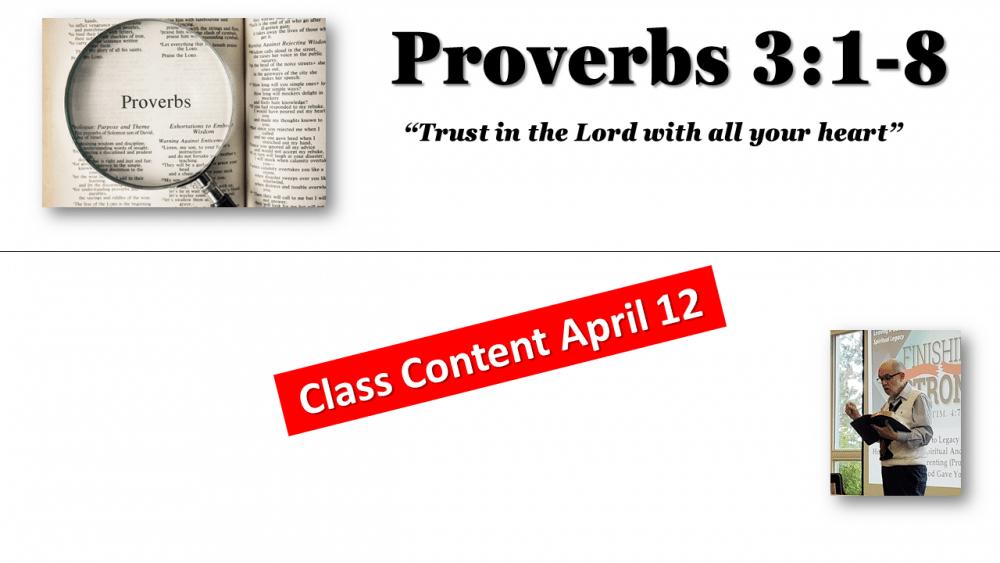 Proverbs Class #5