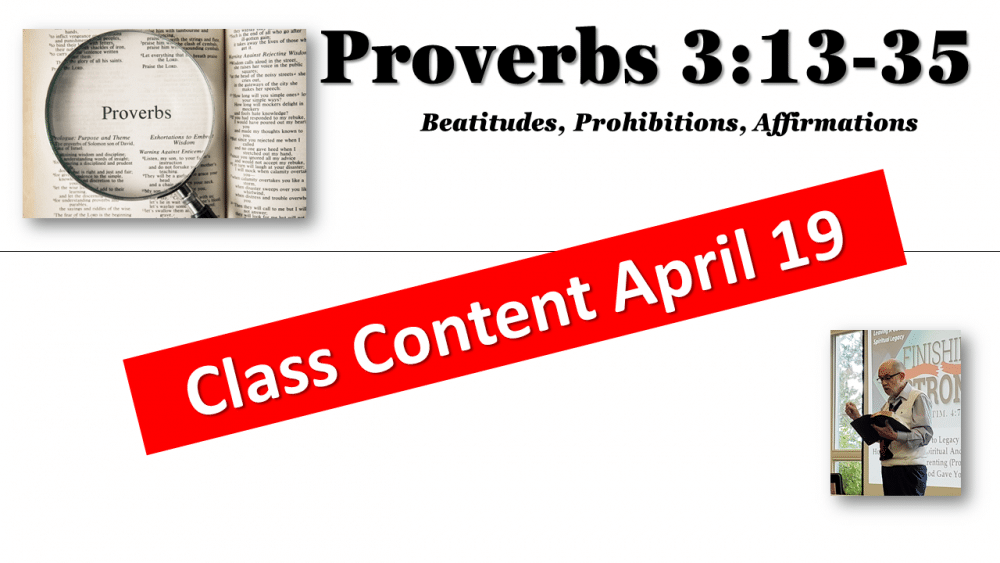 Proverbs 3:13-35 Image