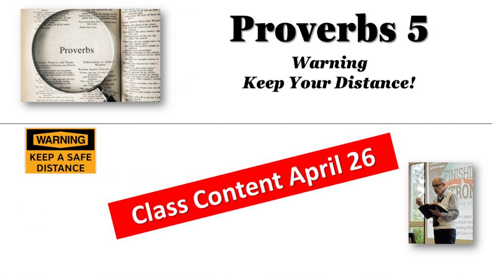 Proverbs Class Content April 26 Image