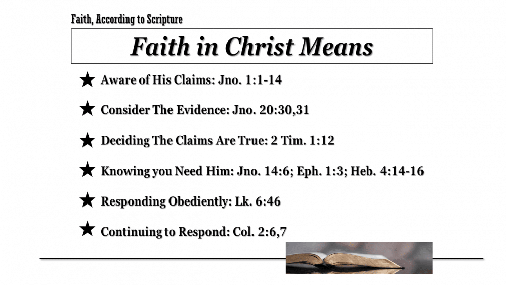 What Faith In Christ Means