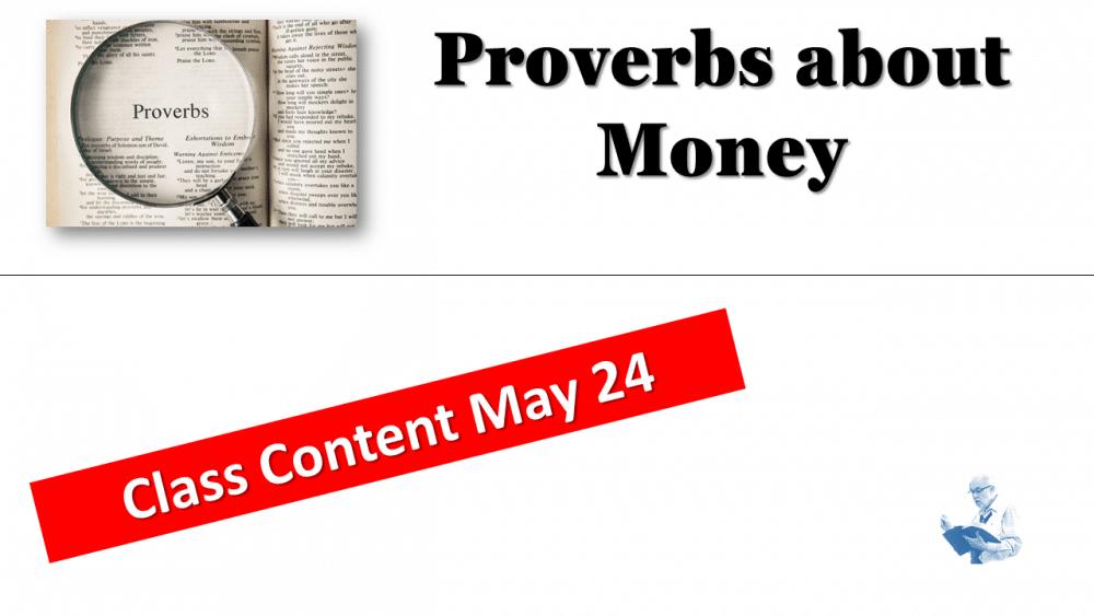 Study of Proverbs - Money
