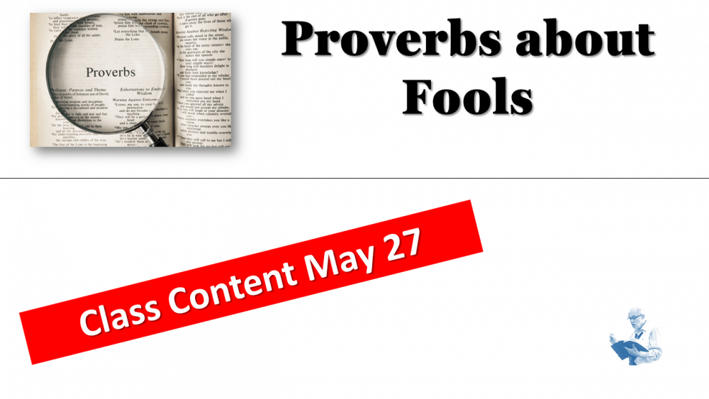 Proverbs - About Fools