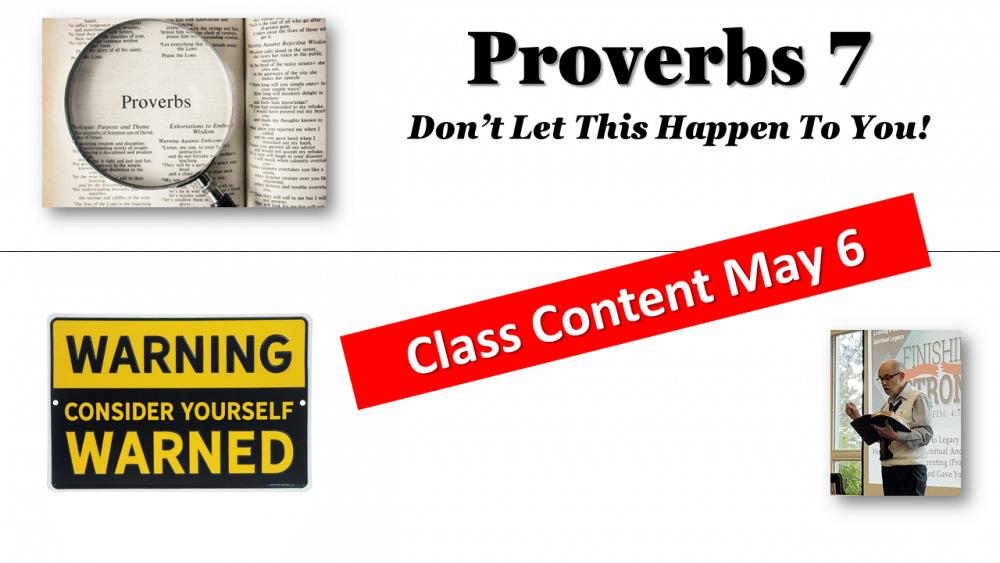 Proverbs Chap. 7 Image