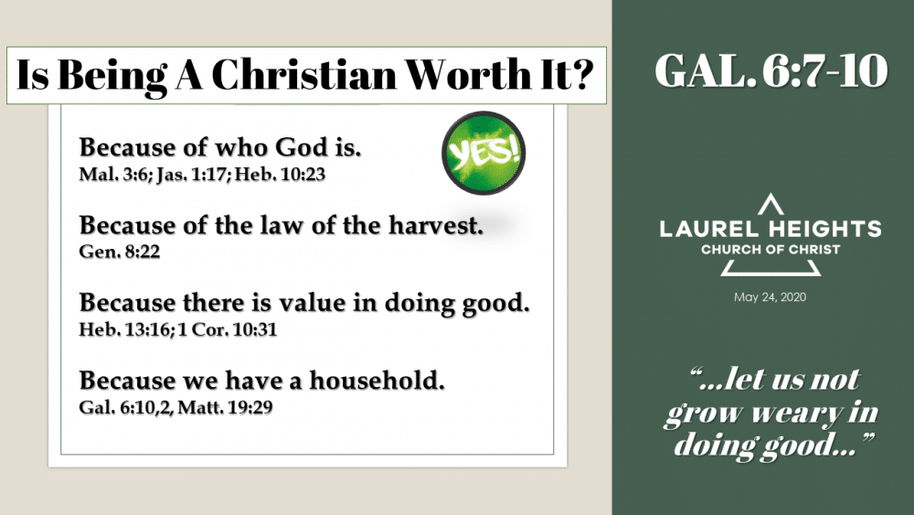 Is it Worth It to be a Christian