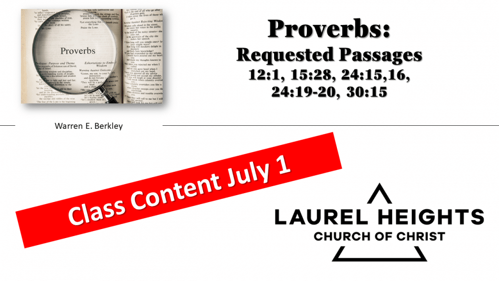 Proverbs July 1