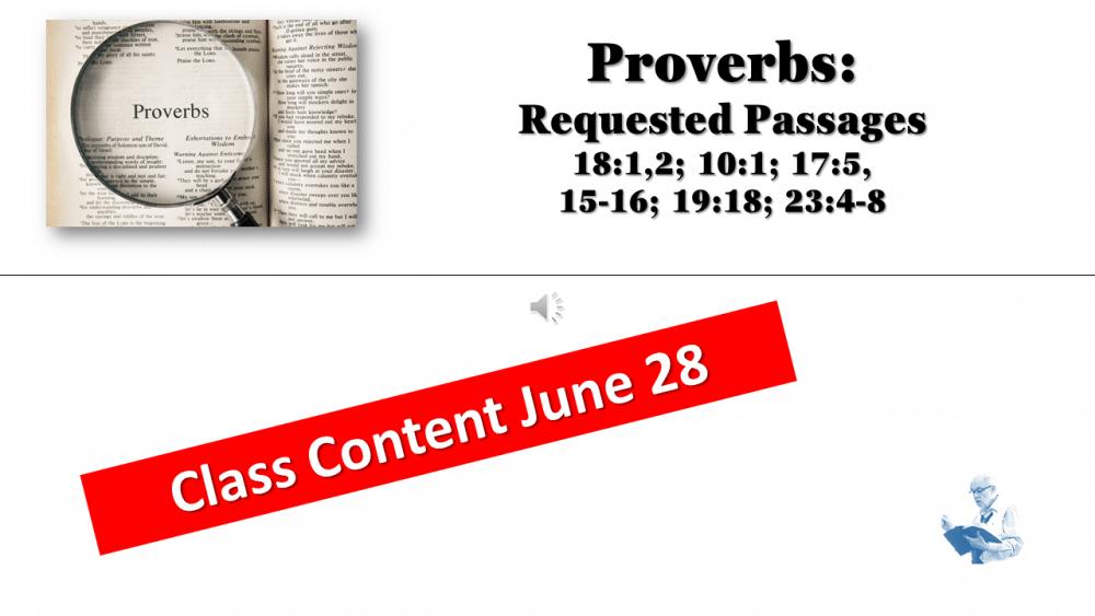 Prov. Class June 28