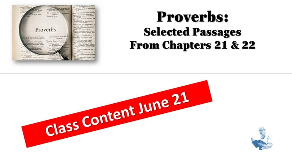 Proverbs for June 21
