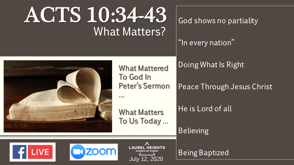 What Matters To God