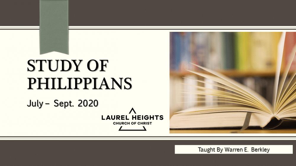 Philippians Class #1