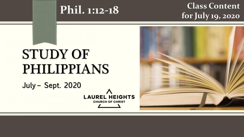 Philippians Class July 19