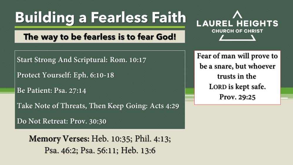 Building Fearless Faith