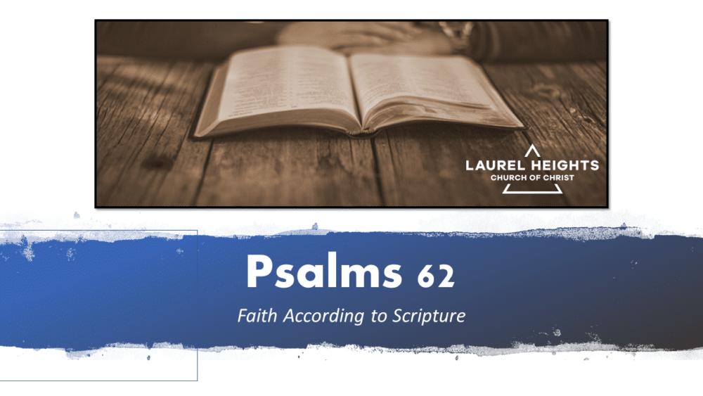 Psalm 62 - Trust