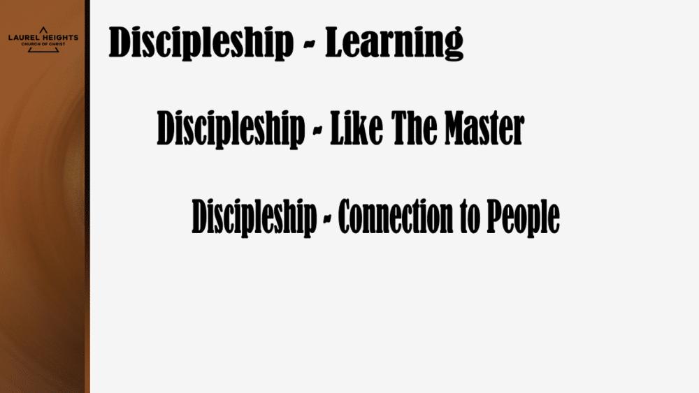 Oct 18 pm Discipleship