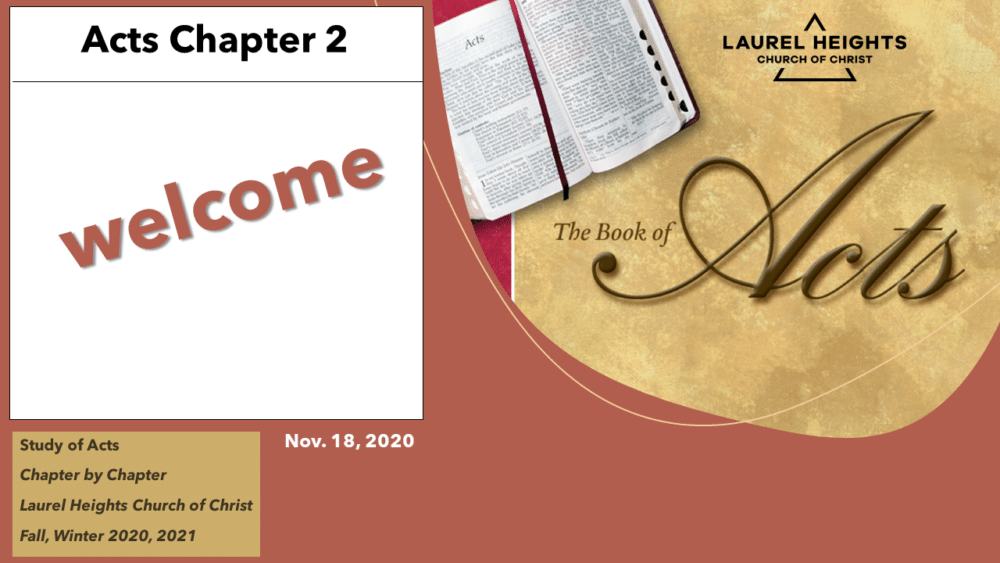 Class Content Nov 18 Acts 2