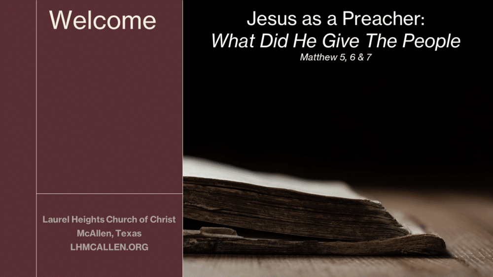 What Jesus Gave In His Sermons