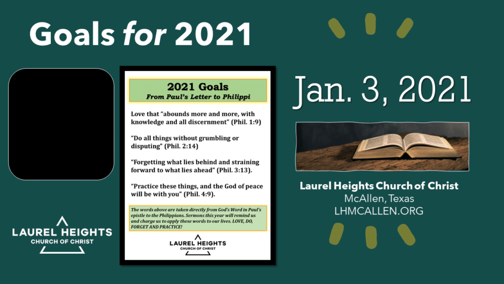 Goals for 2021 Part 1 (am) Image