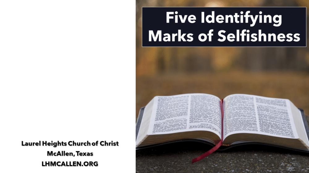 Marks of Selfishness Image