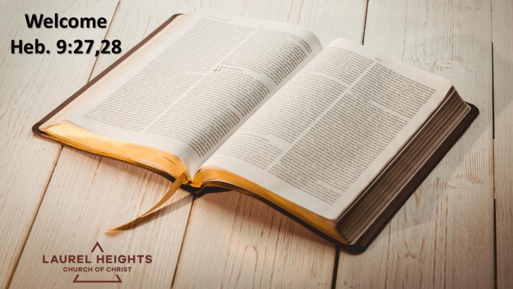Heb. 9:27,28 Image