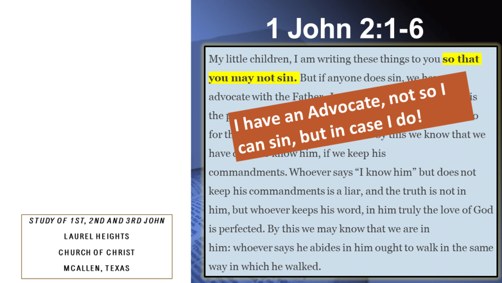 1 John 2:1-6 for Feb. 28 Image