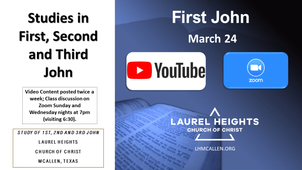 123 John for March 24