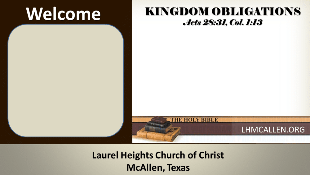 Kingdom Obligations