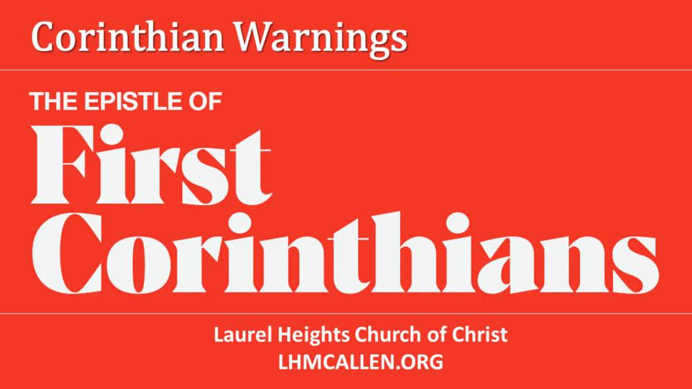 Corinthian Warnings March 14 am Image