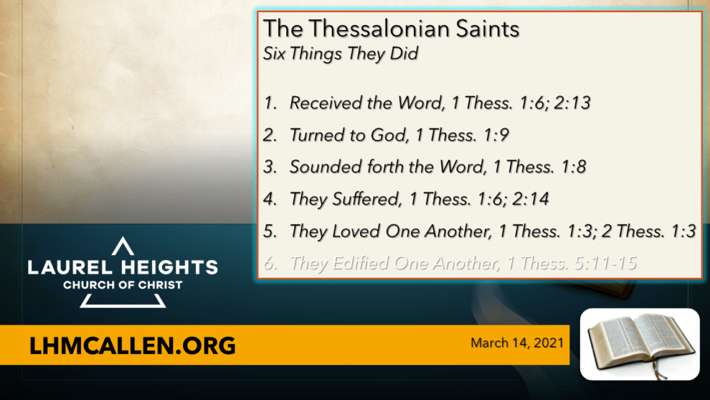 What The Thessalonians Did