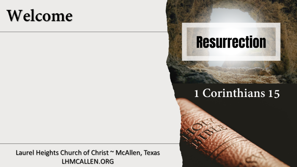 1 Cor.15 Part 2 Apr 4 pm