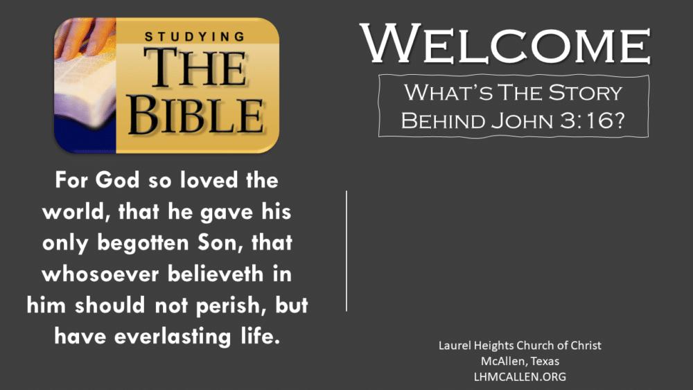 John 3:16 Image
