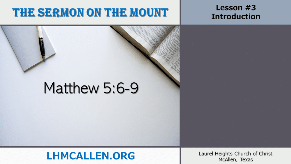 Sermon on the Mount May 16 Image