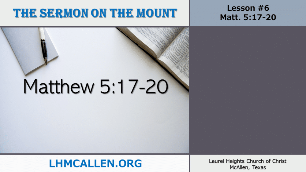 Sermon on the Mount May 26 Image