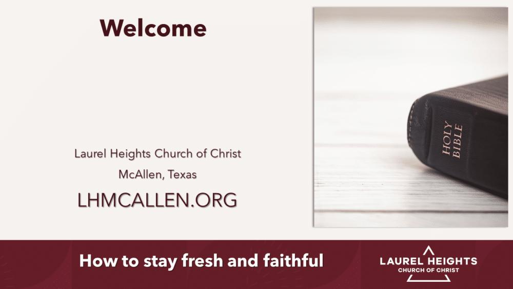 Staying Fresh and Faithful Image