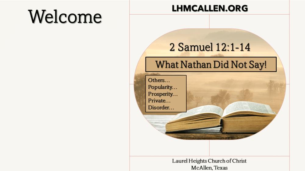 Nathan's Rebuke of David Image