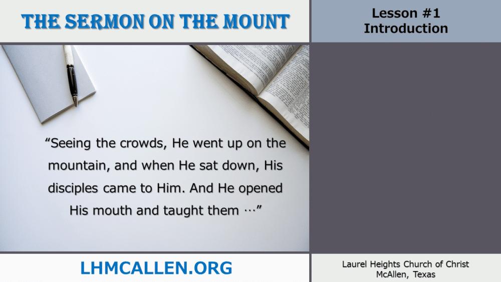 Sermon on the Mount May 9