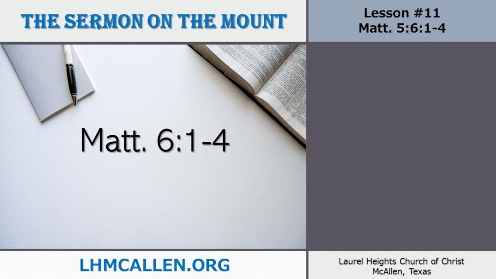 Sermon on the Mount June 13