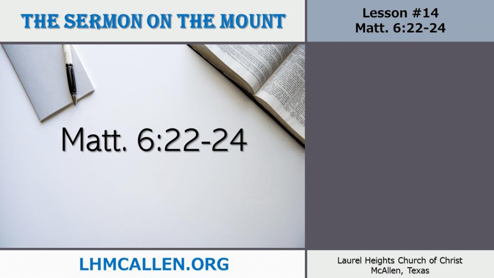 Sermon on the Mount June 23 Image