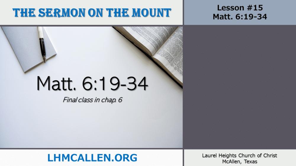 Sermon on the Mount June 27 Image