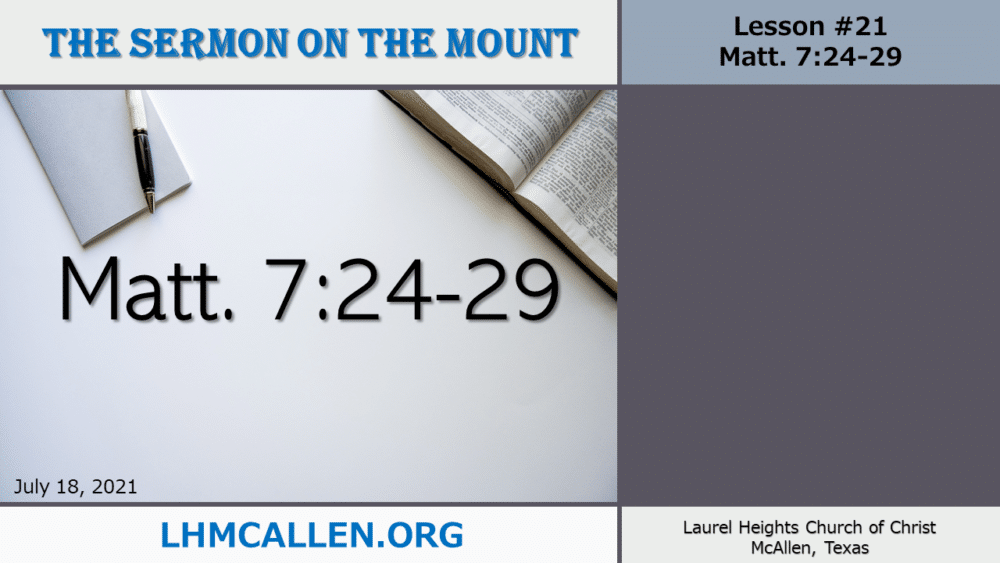 Sermon on the Mount July 18 Image
