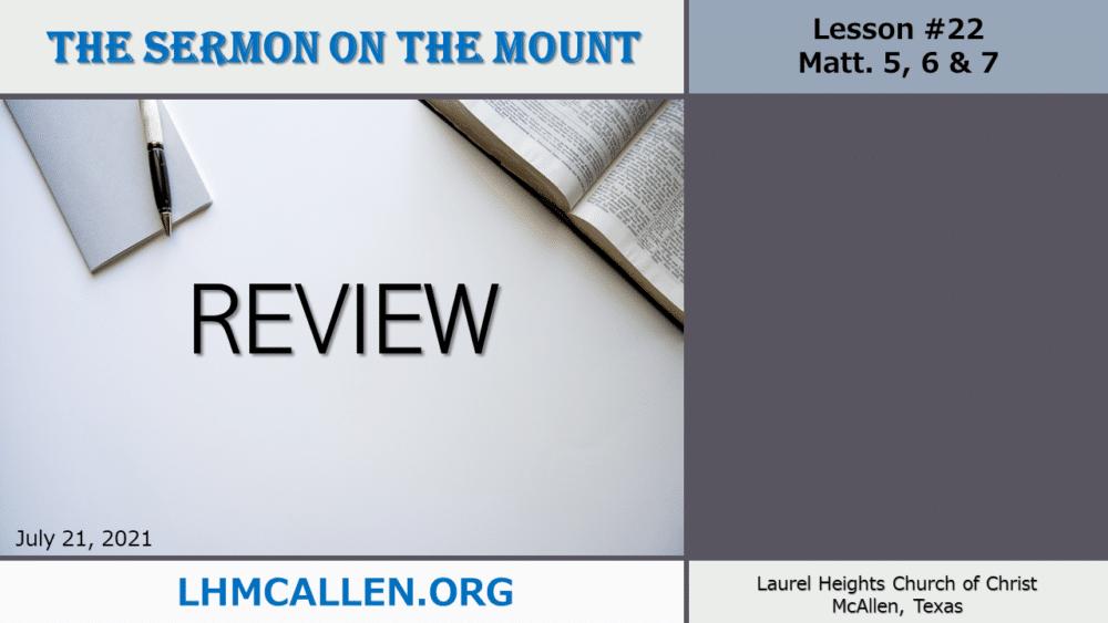 Sermon on the Mount July 21 Image