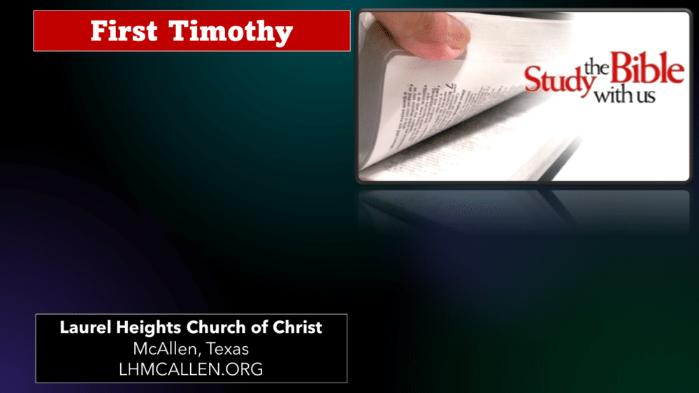1 Timothy for July 25 Image