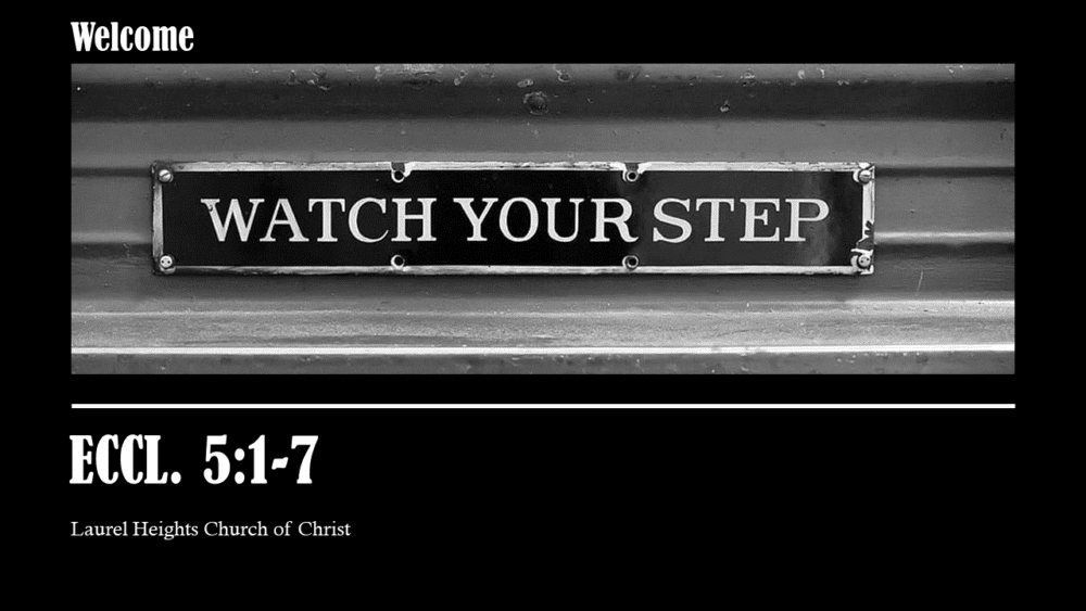 Watch Your Step Image