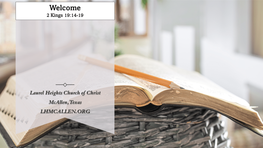 Hezekiah's Prayer July 25 am Image
