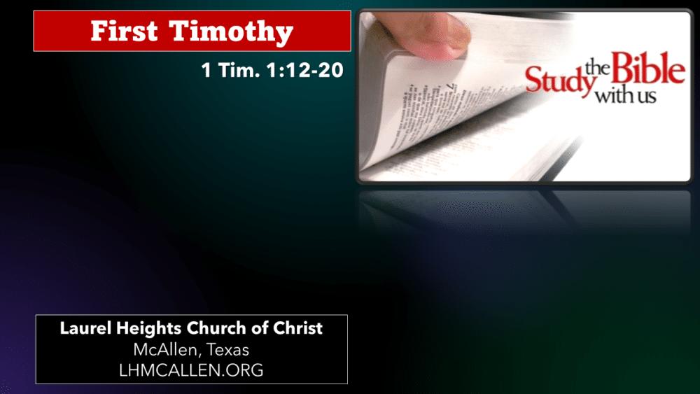 1 Timothy for Aug. 18 Image