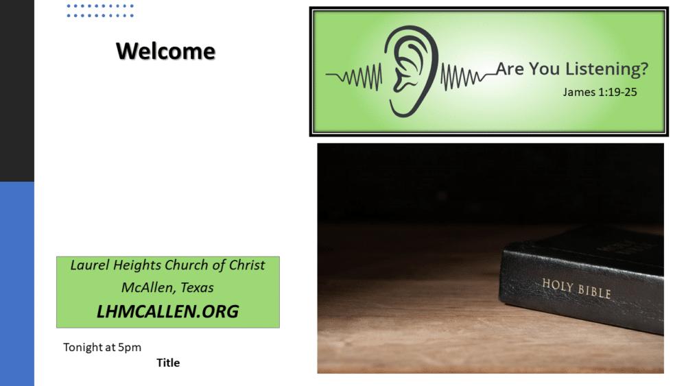 Listening Aug. 22 am Image