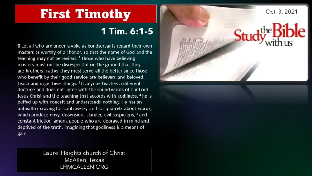 1 Tim for Oct 3 Image