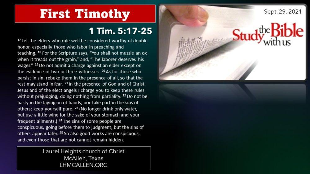 1 Tim for Sept. 29 Image