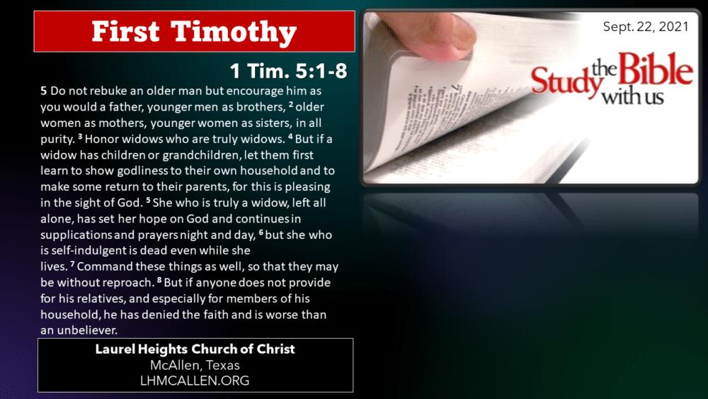 1 Tim. for Sept. 22 Image