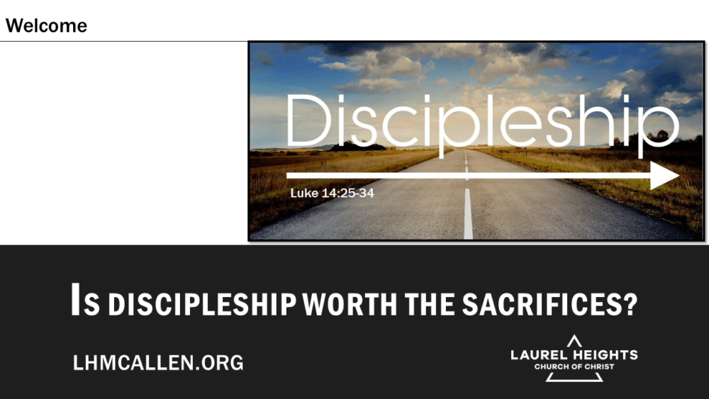 Cost of Discipleship Luke 14 for Oct 3 pm